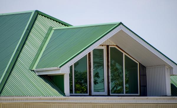 Attic Window With Green Colorbond Roofing